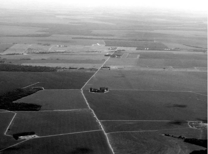 Aerial image of the farming landscape in Mato Grosso